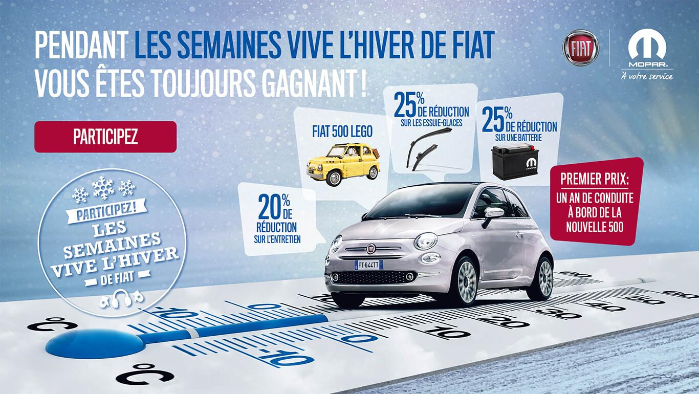 Tijdens de Fiat Win-Winterweken heeft u altijd prijs!